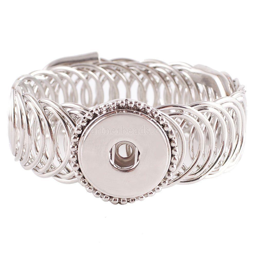 Mejor vendedor de joyas de alta calidad de pulseras intercambiables SNAP por 18 mm encaje de forma Ginger Snaps encanto de la pulsera Accesorios Kc0622