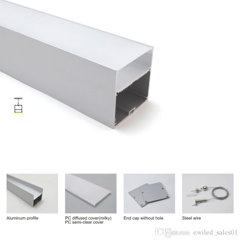 Aluminium Channel P2 for LED Strips; Anodized Silver End Caps 1m CLEAR Cover