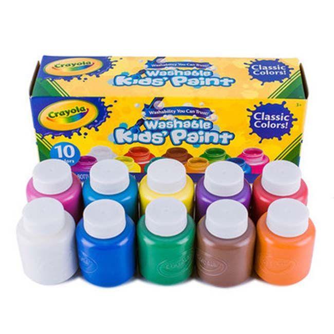 Crayola Kids Paint Washable Classic Colors Contents 10 bottles 2FL ...