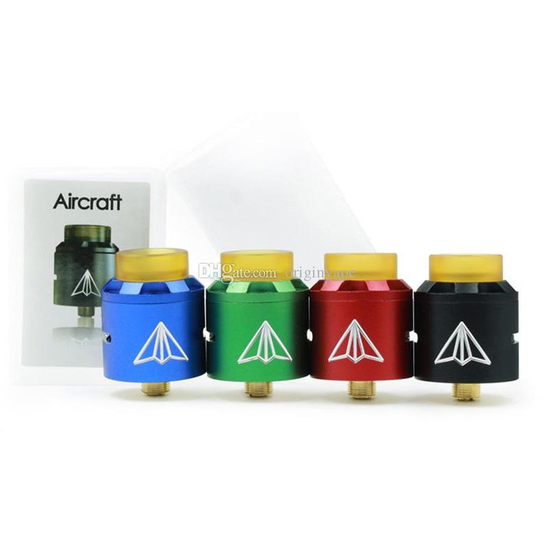 Newest Aluminum Aircrift RDA Atomizer Dual coil system Adjustable Airflow With Wide Bore Drip Tip 4 Colors Fit 510 E Cigarette