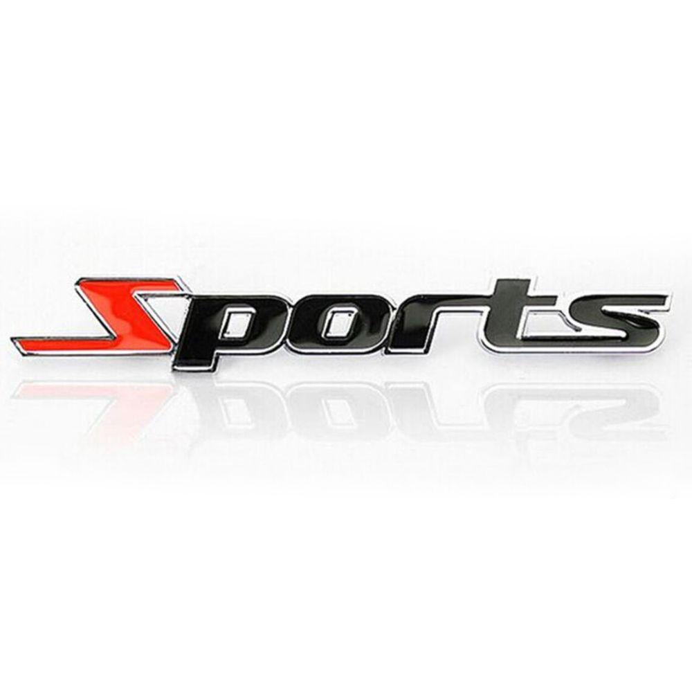 Sticker 3D Sports en métal pour voiture adhésif autocollant