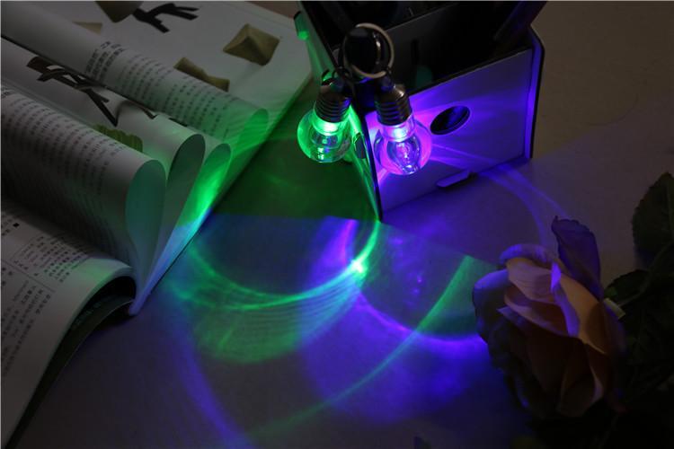 LED colorful light bulb creative key buckle Mini Nightlight novelty gifts
