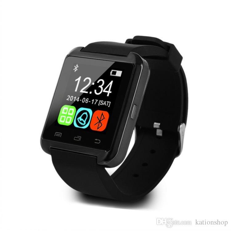 2017 Sıcak satış U8 Smartwatch Bluetooth İzle İçecek Saat Pasometre Dokunmatik Ekran cevap ve perakende kutusu ile telefona Dial iphone akıllı izle