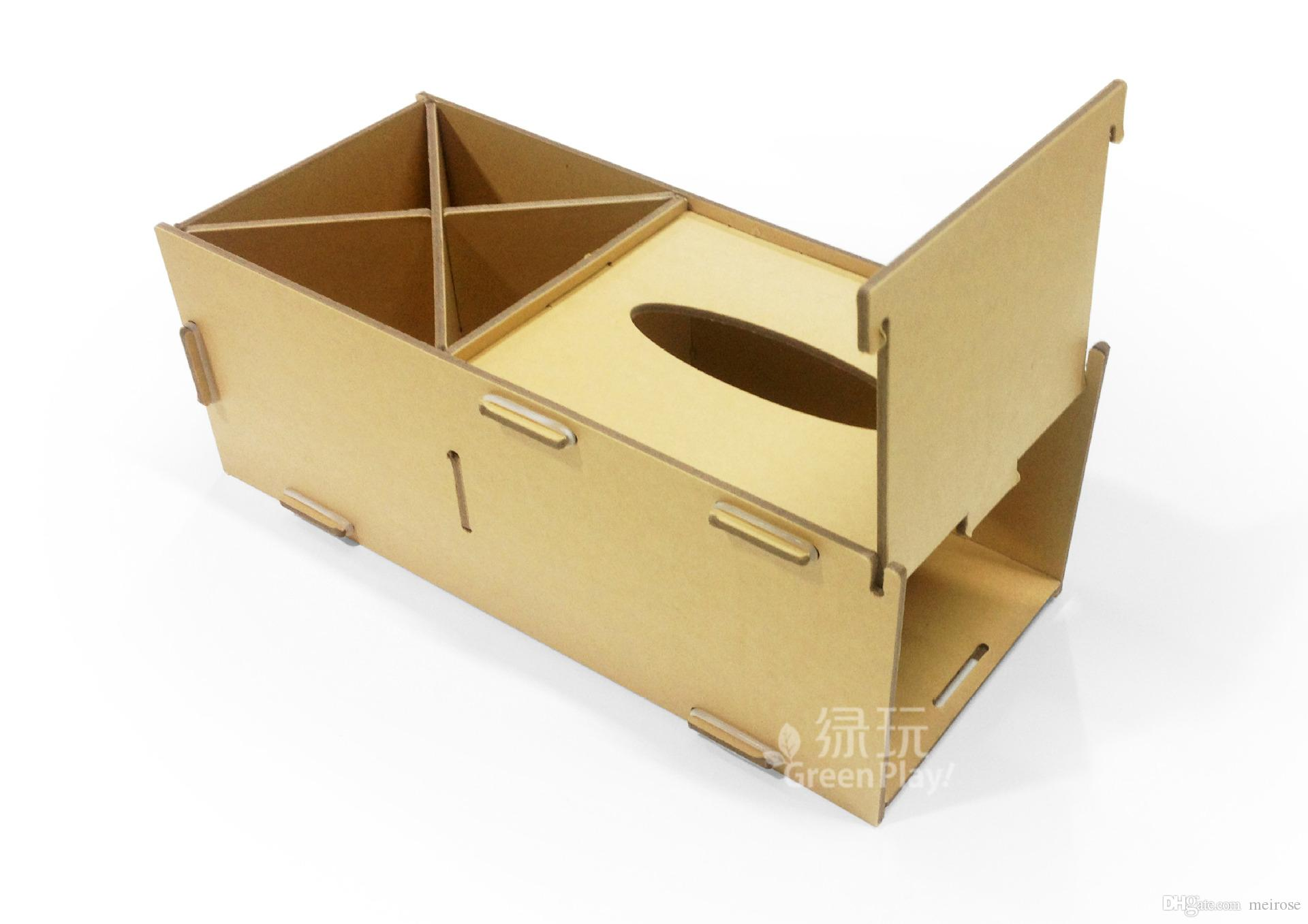 Kraft Paper Desk Organizer With Tissue Bo Office Accessories And Drawer Make Your