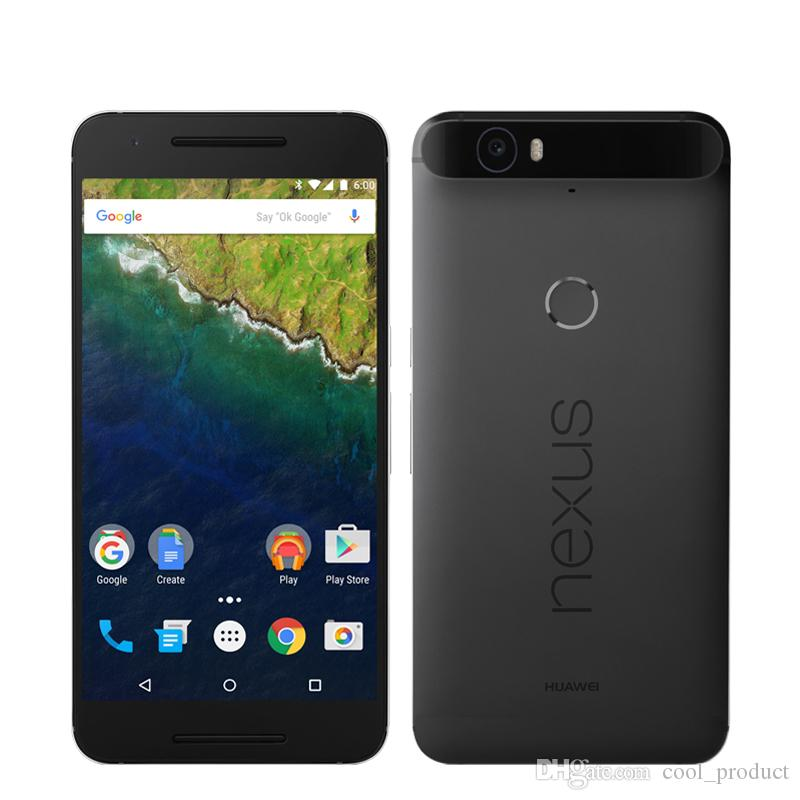"Original Huawei Nexus 6P 4G LTE Cell Phone 3GB RAM 32GB 64GB ROM Snapdragon 810 Octa Core Android 5.7"" 12.MP Fingerprint ID NFC Mobile Phone"