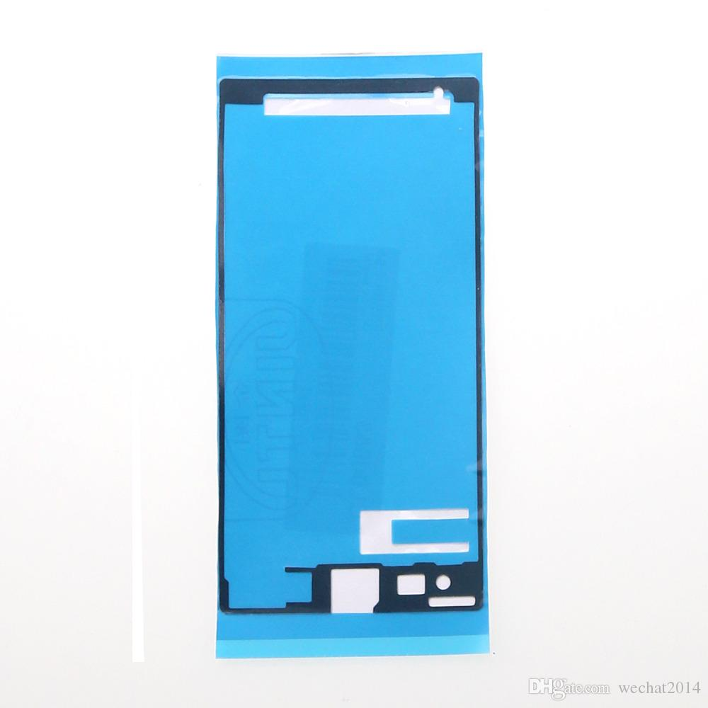 Pantalla LCD frontal de la batería precortada Etiqueta adhesiva de cinta adhesiva impermeable para Sony Z Z1 Z2 Z3 Z4 Z5 mini