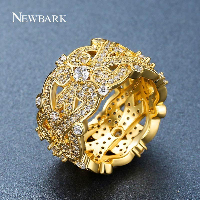 Newbark مزدوجة إنفينيتي الدائري للنساء زركون خواتم الزفاف الاشتباك واسعة الحب الإكسسوارات والمجوهرات هدية q170720