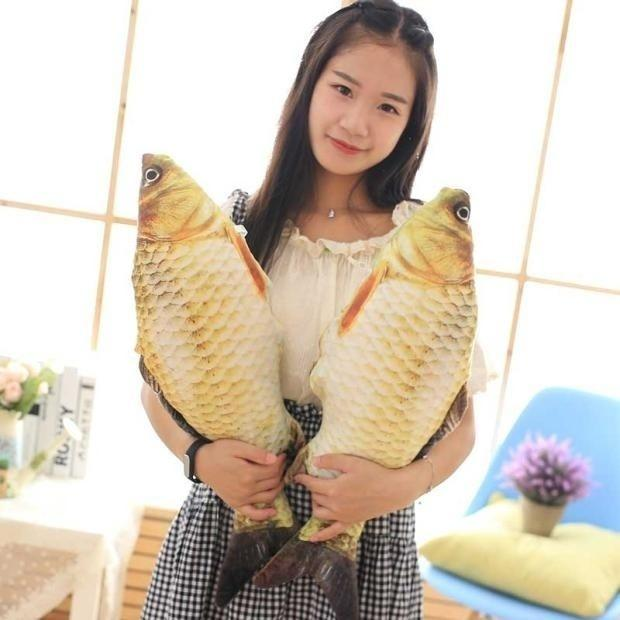 Simulation Carp Plush Toys Staffed Soft Animal Fish Plush Creative Sofa Pillow Gift Kids Toy Christmas Gifts (Size: 20 cm)