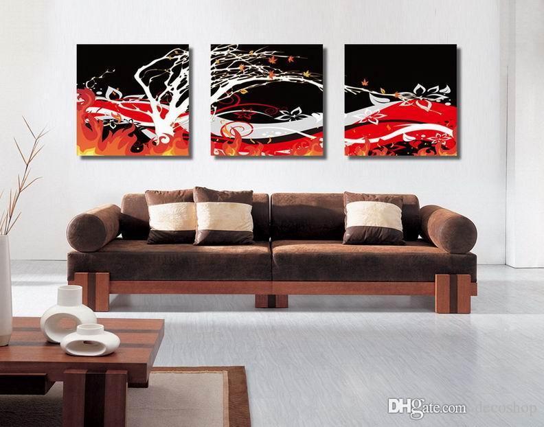 자두 꽃 Wintersweet 꽃 그림 캔버스에 Giclee 인쇄 홈 장식 벽 예술 Set30400