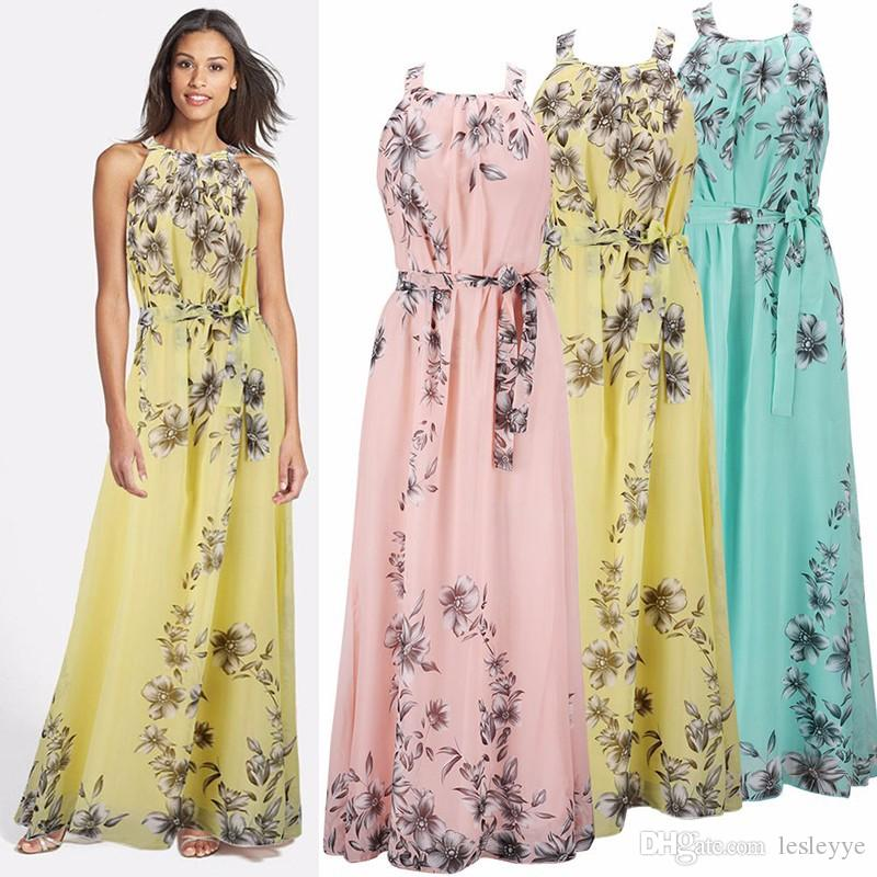 Wholesale Summer Style Floral Print Summer Beach Bohemian ...