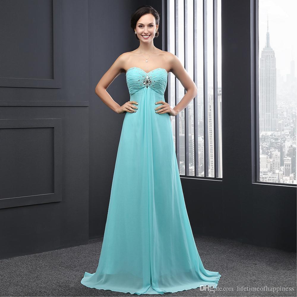 2017 Plus Size Blush Bridesmaid Dresses Mint Green Long Chiffon ...