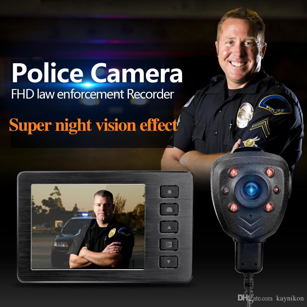 """1080P 2.7 """"Pantalla LCD portátil HD visión nocturna infrarrojo policía mini dv cuerpo de la cámara cámara de video grabada dvr con infrarrojo IR grabadora de reuniones"""