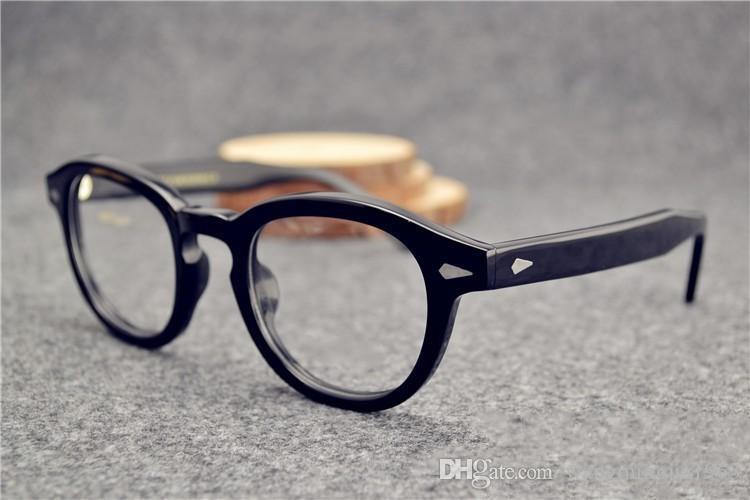 Sunglasses Frames johnny depp glasses top Quality brand round eyeglasses frame men and women myopia eye glasses frames free shipping
