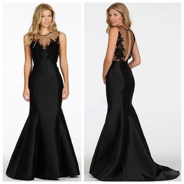 Latest Looking Of New Arrival Long Black Mermaid Special Occasion ...