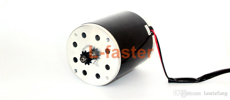 24V36V48V 500W Brush DC Motor Without Foot Bracket Electric Scooter High Speed Engine Use 25H Sprocket Electric Motorcycle Engine
