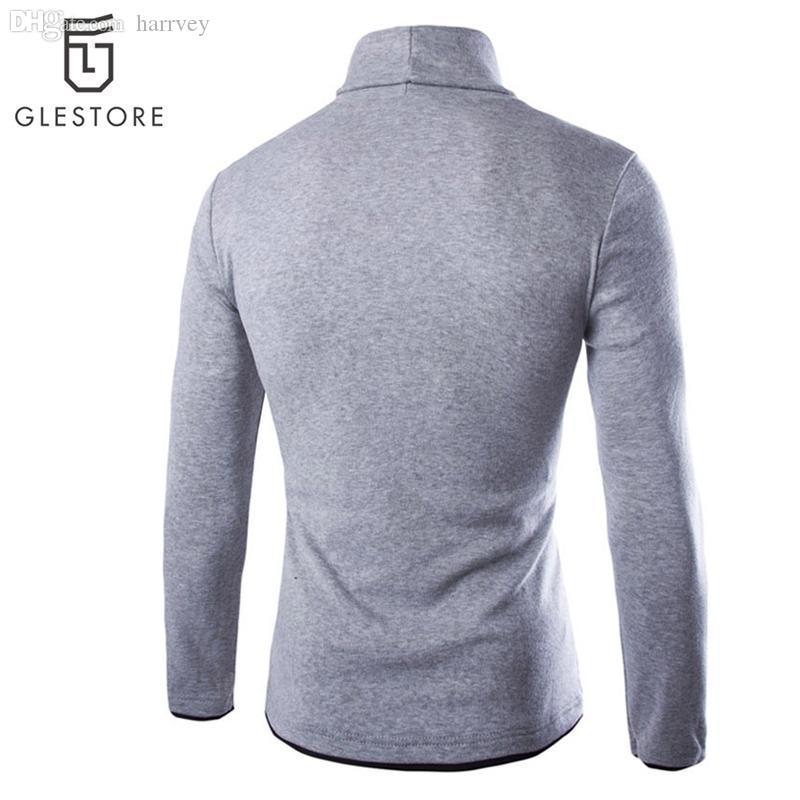 Wholesale-2016 Top Fashion Sweater Männer Casual Strickpullis Männer Pullover Langarm Männlich Rollkragen Bunte Herren Pullover 6 Farben