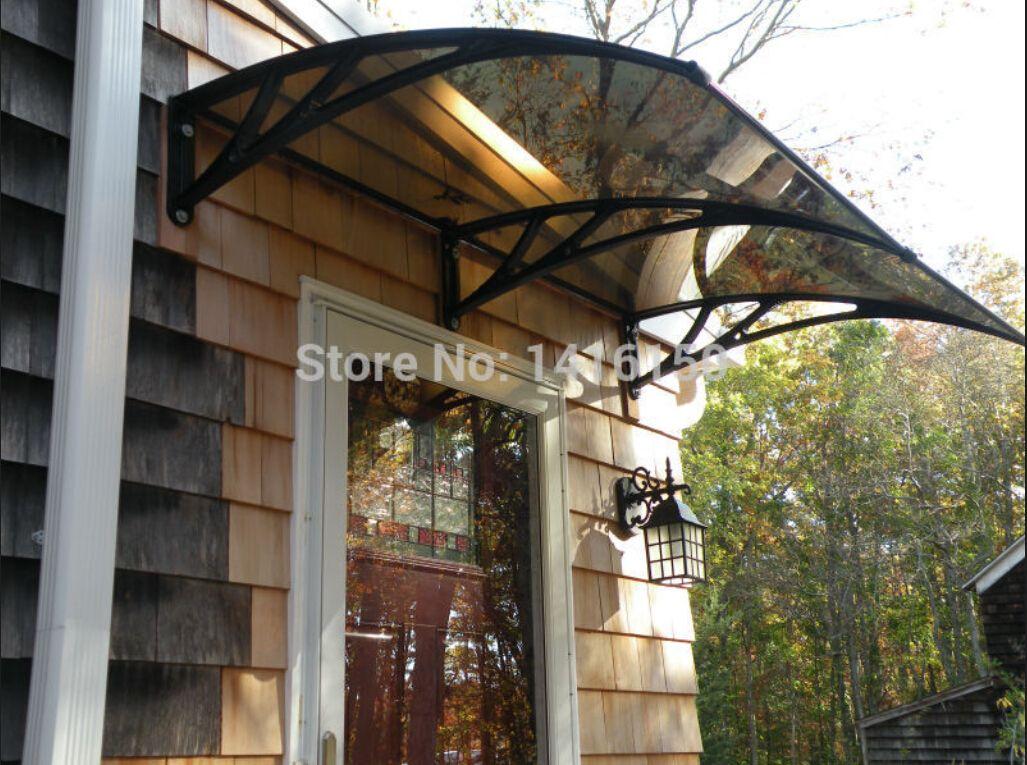 DS100200-P, 100x200cm, 39.37x 78.74 pollici.La tenda da sole per porte d'ingresso con staffa in plastica, porta d'ingresso, tettoia per porte