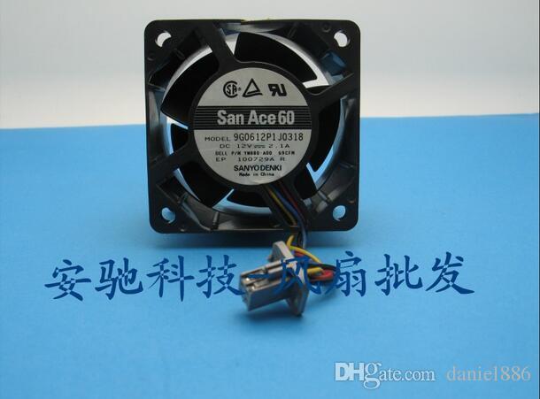 Original autêntica SANYO DC12V 2.1A 9G0612P1J0318 6 centímetros 60 * 60 * 38MM fã de quatro fios