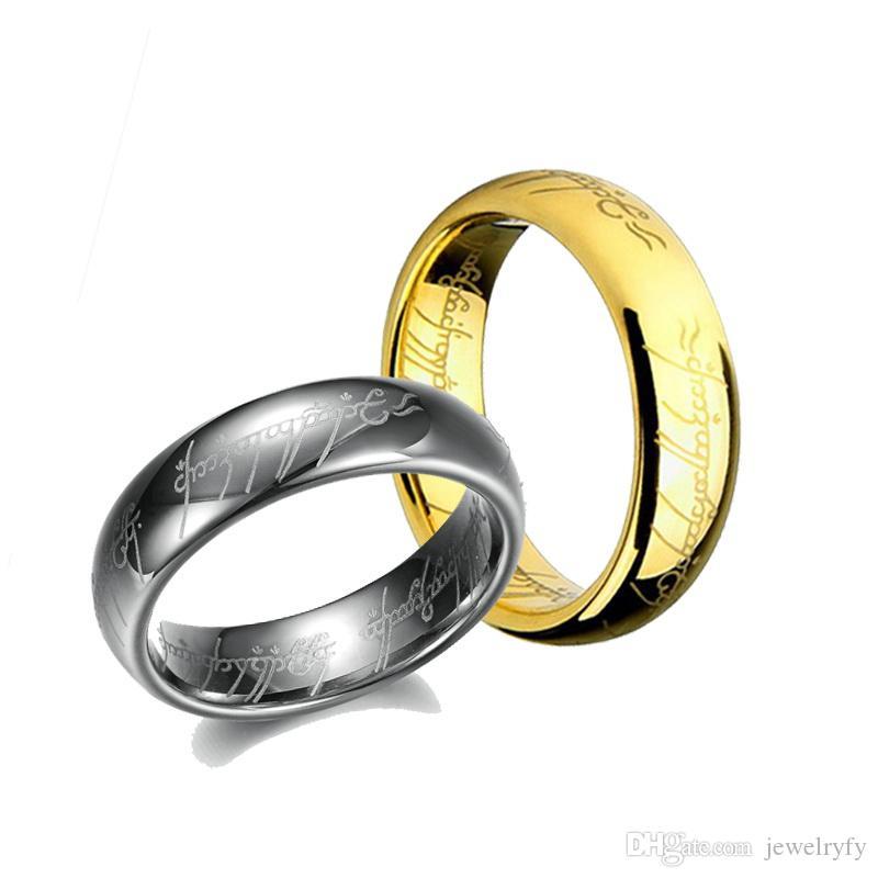 Verblassen Sie niemals 100% Wolfram-Stahlring, Ring von Mordor Lord Cool Wolfram Ring für männliche weibliche Liebhaber