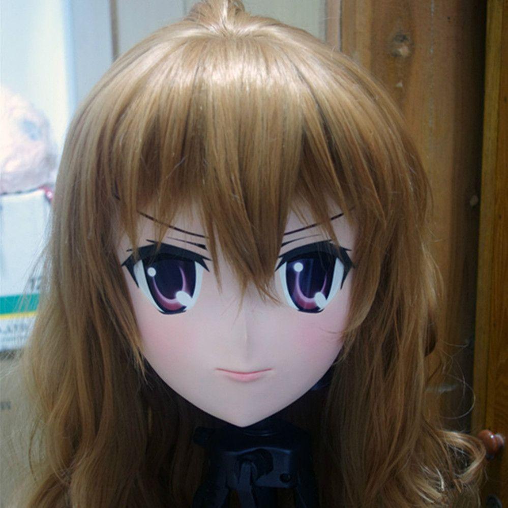 (C2-038) Top Quality Handmade KIG Máscara de Borracha de Silicone Máscara Cosplay Kigurumi Crossdresser Boneca Japão Anime Role Play