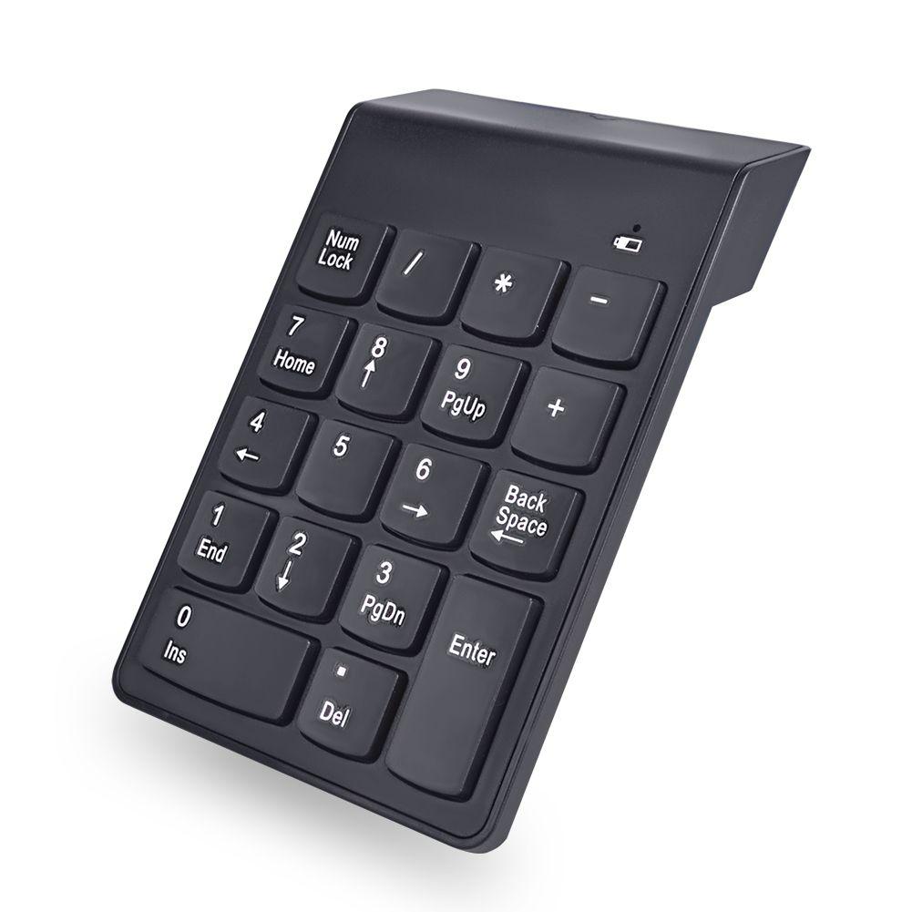 Mini Teclado Num/érico 18Keys Teclado Num/érico Digital 2,4 G USB N/úmero Inal/ámbrico Teclado para Ordenador Port/átil Compatible