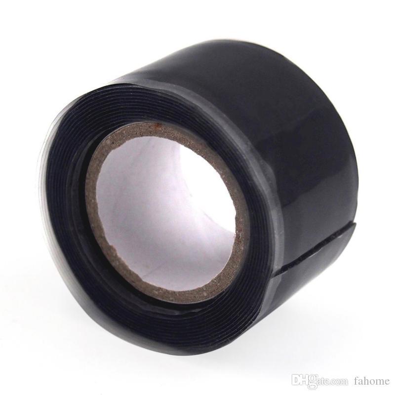CA Black Rubber Tape Silicone Repair Waterproof Bonding Rescue Self Fusing Wire