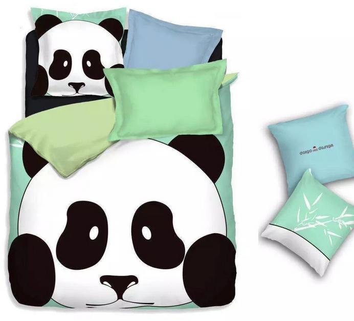 Copripiumino Matrimoniale Cartoni Animati.Acquista Cotone Casa Tessuti Panda Bedding Set Fogli 3d Gemelle A