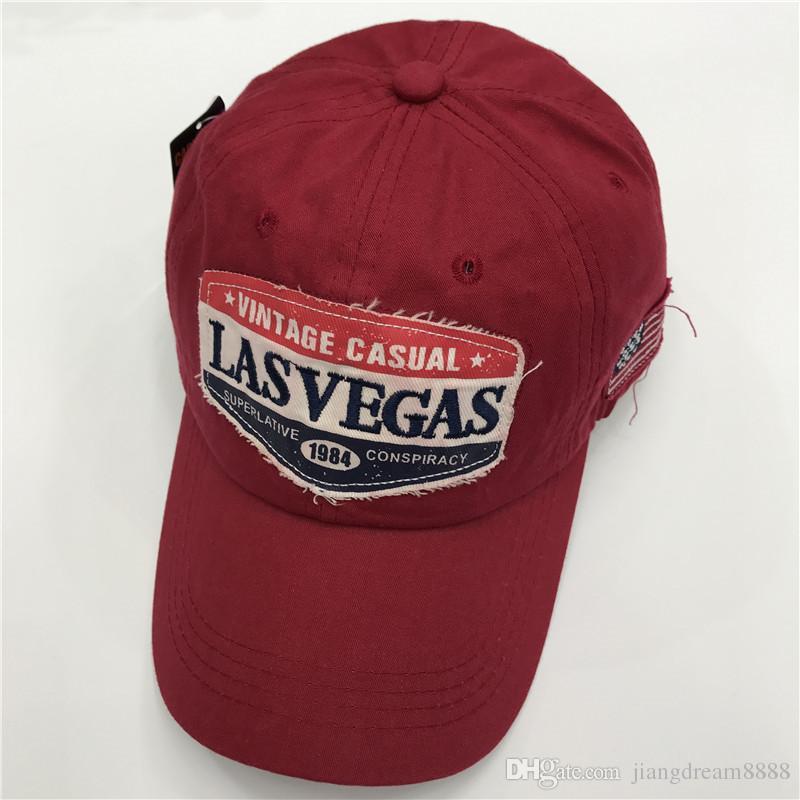 Il trasporto libero 2017 di alta qualità LASVEGAS berretto da baseball 1984 alfabeto ricamo sole cappello casquette uomini e donne moda ombra cap