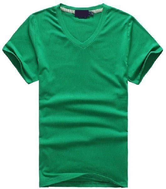 Envío gratis Hot 2016 100% algodón hombres con cuello en v camiseta corta de marca hombres camisas estilo casual para hombres de deporte T-Shirt tamaño S-XXL