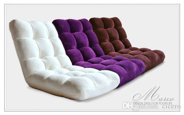 Flanelliertes Sofa Ein Sitz Faul Couch Falten Wohnzimmer Hochwertige Stoff Chaise Mbel