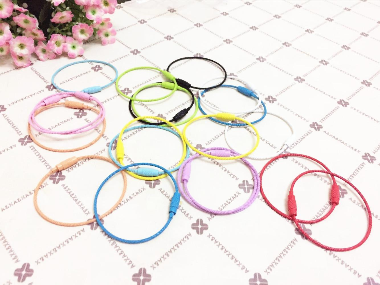 Candy color key lock ring ring toy2r paint color stainless steel wire hoop / key ring steel