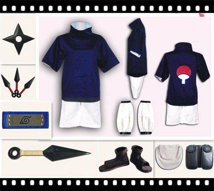 Naruto Sasuke Uchiha génération de vêtements cosplay car ils ne peuvent pas trouver une paire avec des chaussures de protection frontales