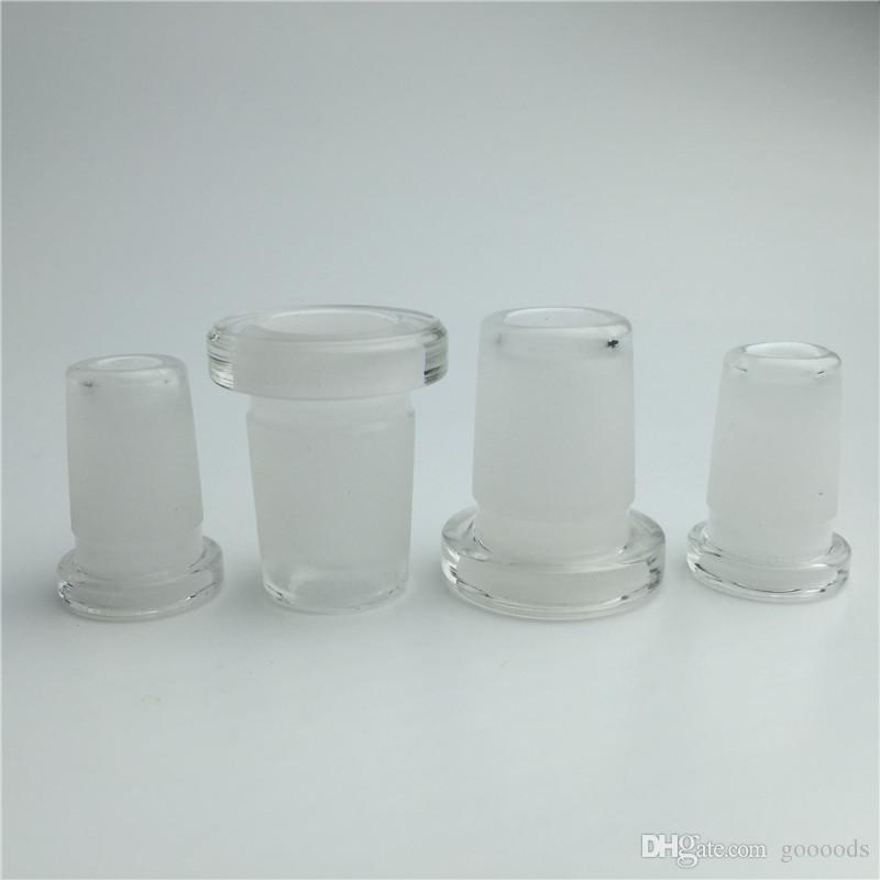 10 mm a 14 mm convertidor de adaptador de vidrio para el bong de cristal de cuarzo banger recipiente de vidrio 10 mm hembra a 14 mm macho 14 mm hembra a 18 mm macho