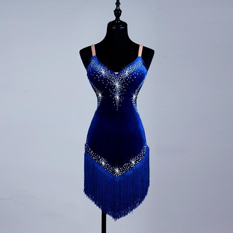 Women/Girls Tassel Latin Dance Dress 2017 Cha Cha/Rumba/Samba/Ballroom Dancing Dancewear Fitness Clothes Lady/Kids Dance Costume F227