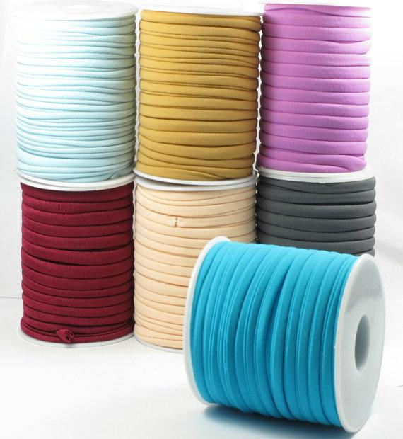 2020 Multi Color 20m 1roll 5mm Elastic Nylon Lycra Cord Soft And