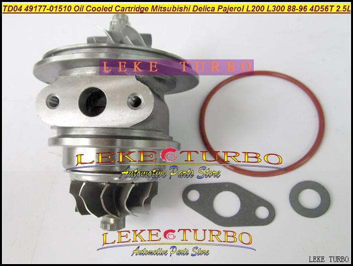 TD04-09B 49177-01510 Oil Cooled Turbocharger Cartridge Turbo Chra Core Mitsubishi Delica Pajero I L200 L300 1988-96 4D56T 2.5L (2)