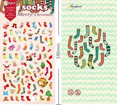Adhesive Stickers Wholesaler Chinacui0507 Sells Cartoon Christmas Stocks  Series Green Sticker/Decoration Label/Gift Office Material School