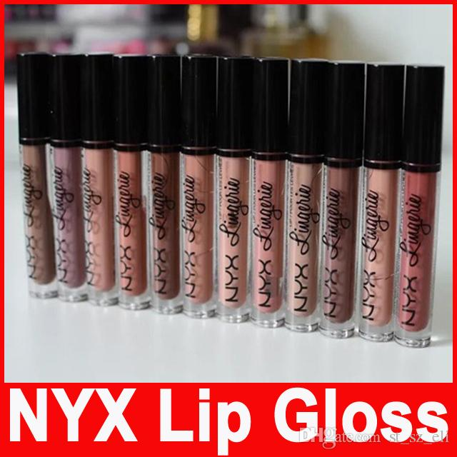 NYX lip lingerie lip cream Lip gloss Lipstick vintage long lasting 4ML Professional Makeup 12 colors