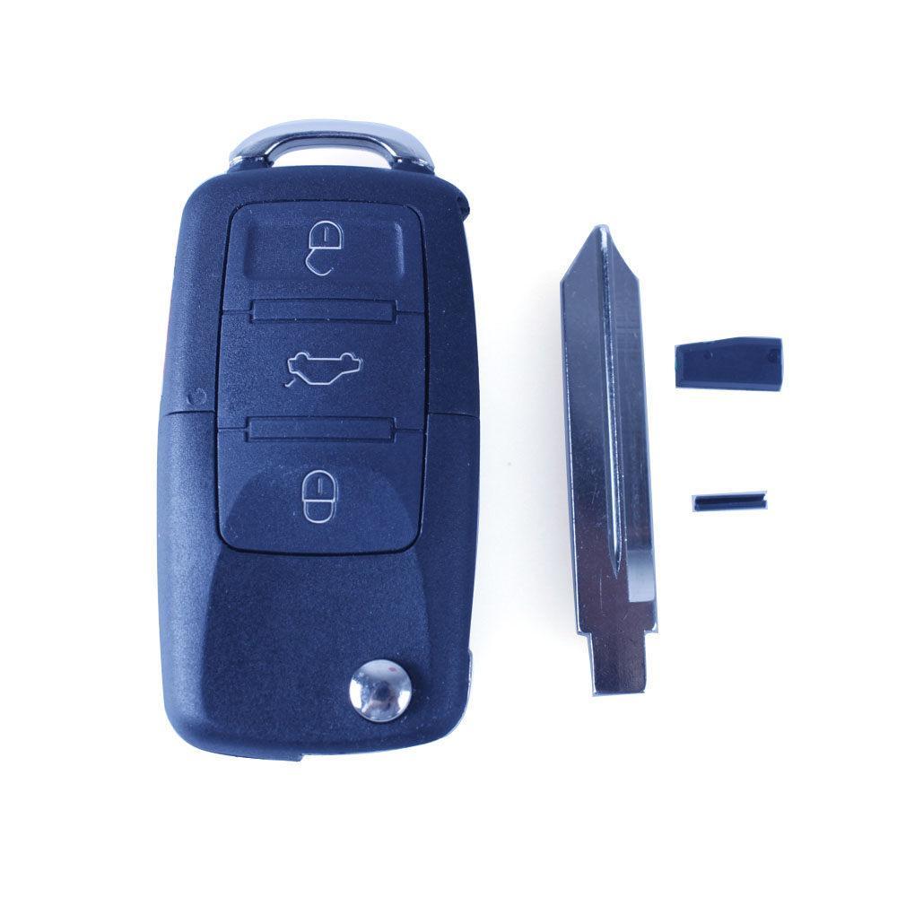 Envío Gratis 4 Botones de Reemplazo de Entrada Sin Llave Remoto Car Key Fob Transmitter Flip Chip Transpondedor de Encendido Garantizado 100%
