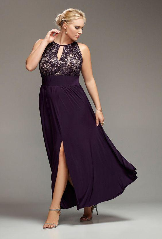 Halter Plum Lace Chiffon Plus Size Special Occasion Dresses 2016 Vintage  Prom Dress Evening Formal Gown Affordable Trendy Plus Size Clothing Black  ...