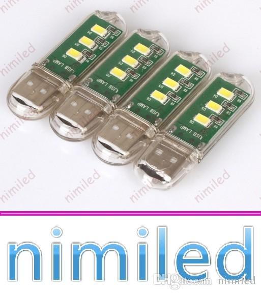 NIMI1003 سوبر مشرق مصغرة 3led 2.3 واط 5 فولت usb hostel الكمبيوتر مكتب مصابيح ليلة صغيرة ضوء السلطة المحمول لوحة المفاتيح USB أضواء المجلس الإضاءة