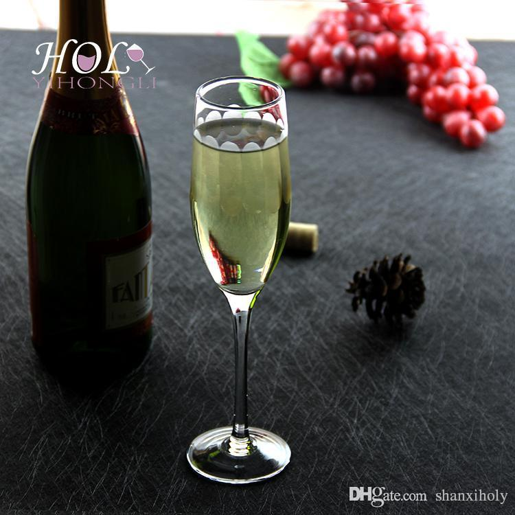 A lead-free glass of champagne glasses