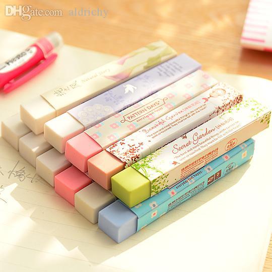 Venta al por mayor-1 Picics Pencial Kawaii Eraser Artículos escolares lindos Borradores de papelería