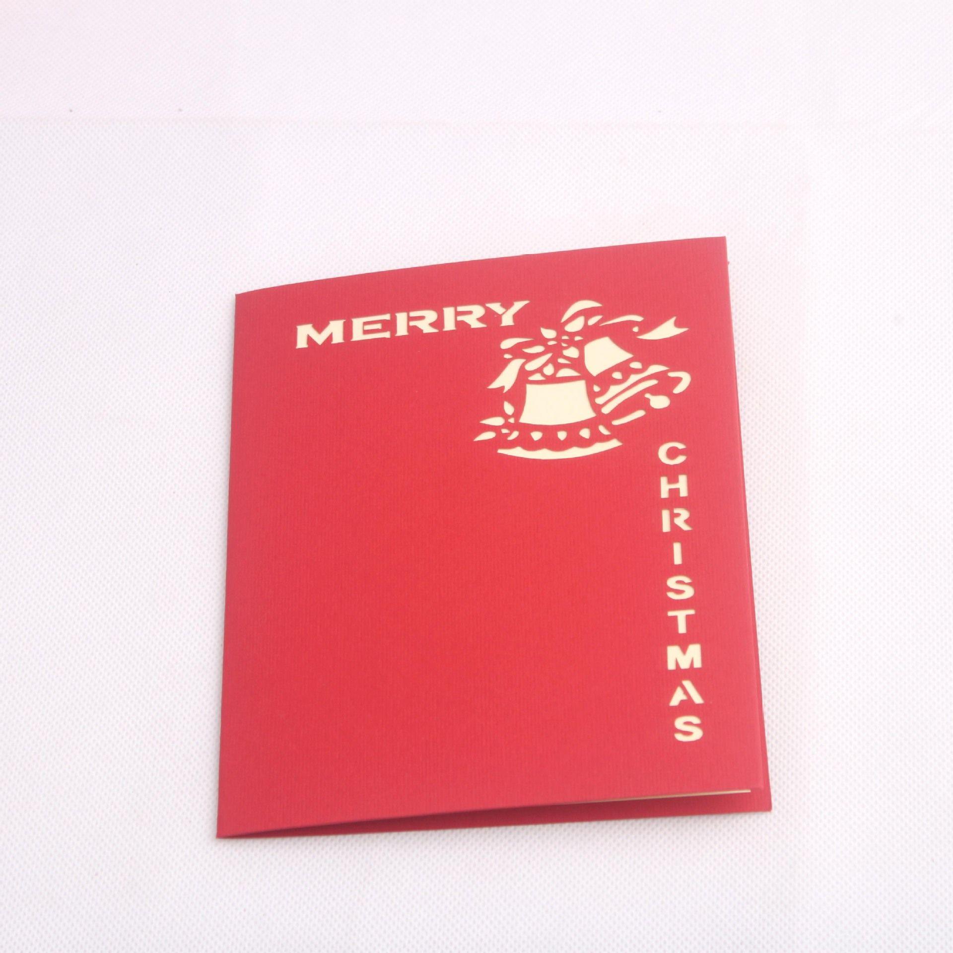 handmade kirigami origami 3d pop up card creative merry christmas