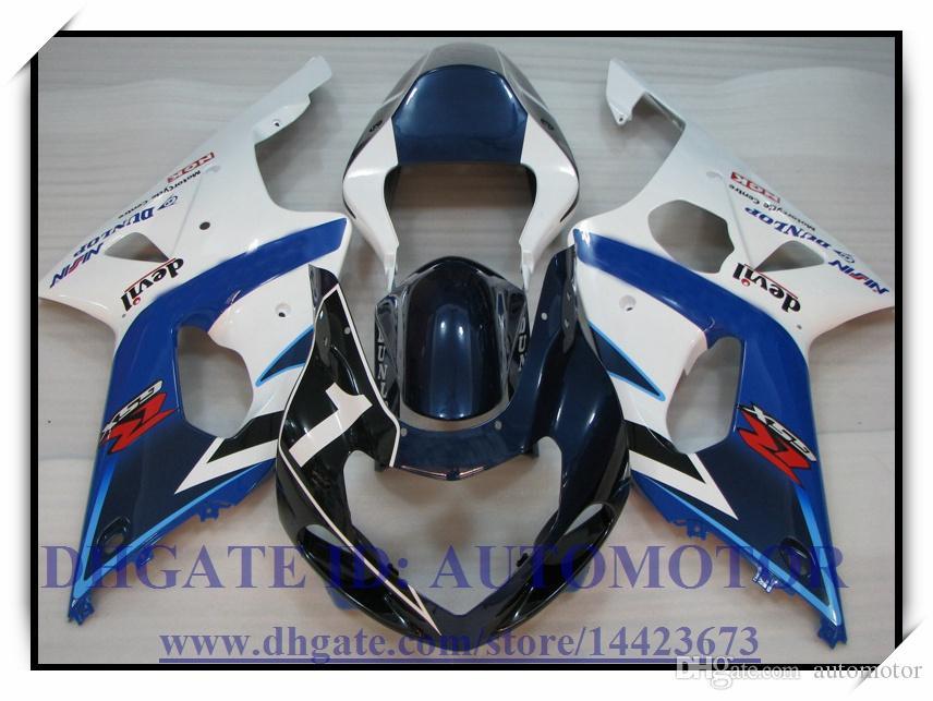 Injection 100% brand new fairing kit fit for Suzuki GSXR1000 2000 2001 2002 GSX-R1000 00 01 02 GSXR 1000 00 01 02 #EV115 BLUE BLACK WHITE