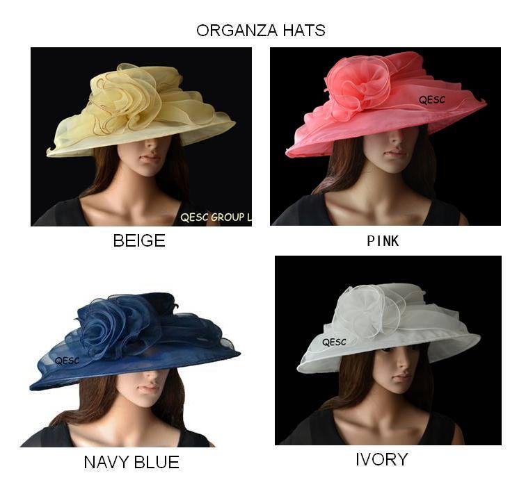 Новый большой органзы шляпа Kentucy дерби шляпа Церковь шляпа.4 цвета, 4pcs / lot