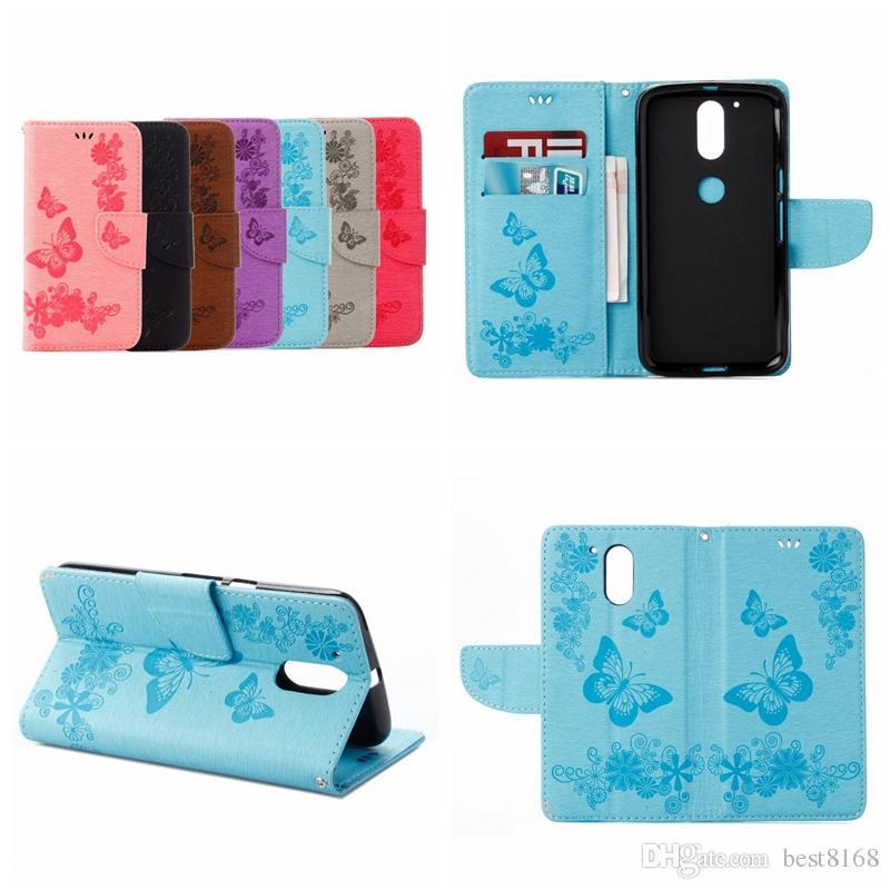 Schmetterling Leder-Mappen-Kasten für Iphone 12 2020 11 2019 XR XS MAX X 8 7 6 6S Galaxy S10 Anmerkung 10 Blumen-Taschen-ID-Karten-Slot-Abdeckung Halter