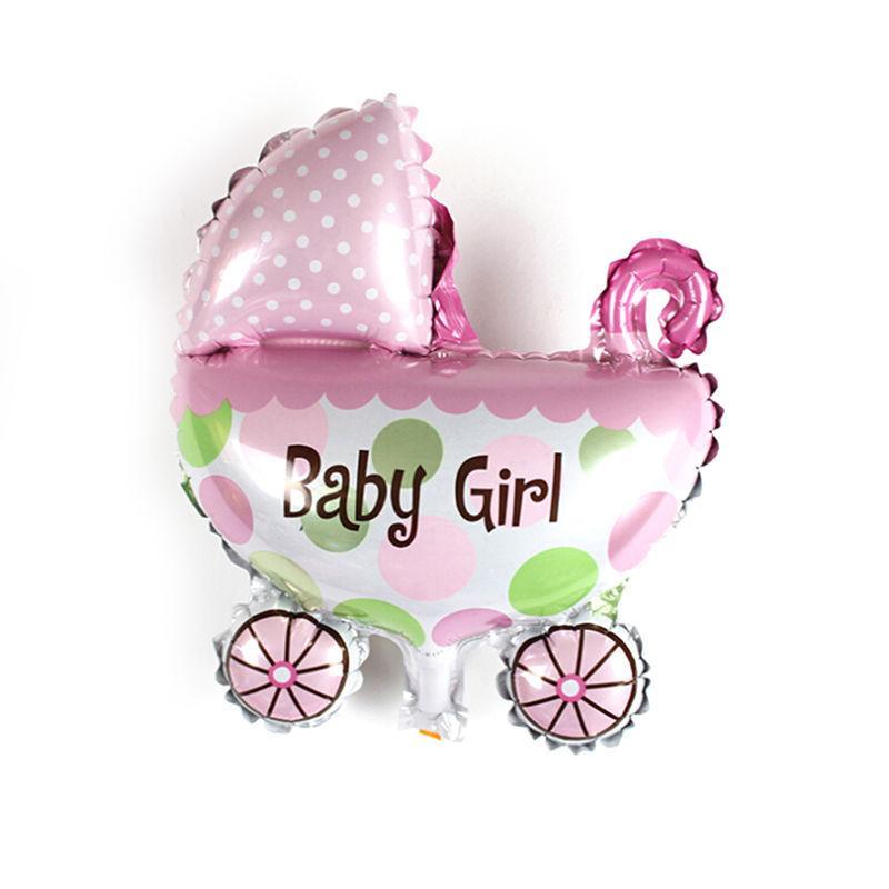 Venta al por mayor-lindo mini cochecito de bebé para bebés globos de lámina celebración de boda Brithday Party Balloons Decoración de helio globo 30x30cm