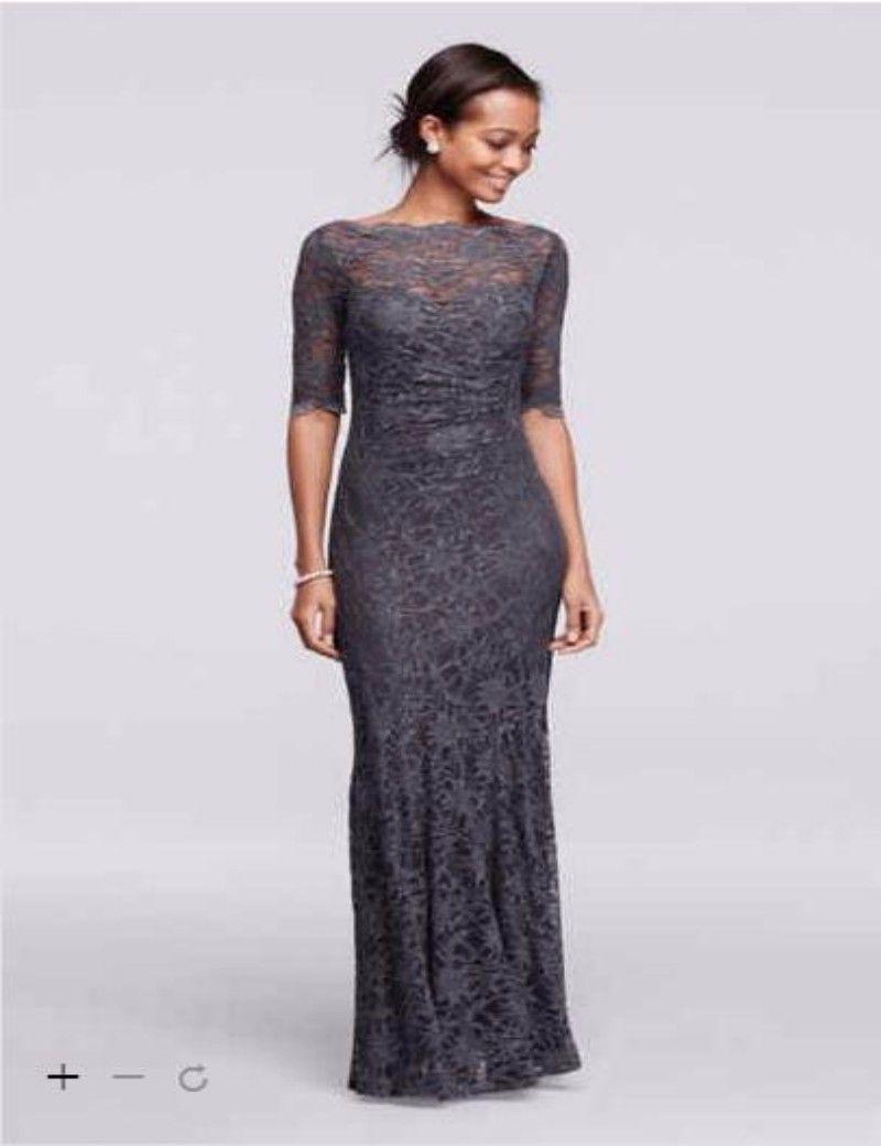2016 Bridesmaid Dress New Long All Over Glitter Lace Mermaid Dress ...