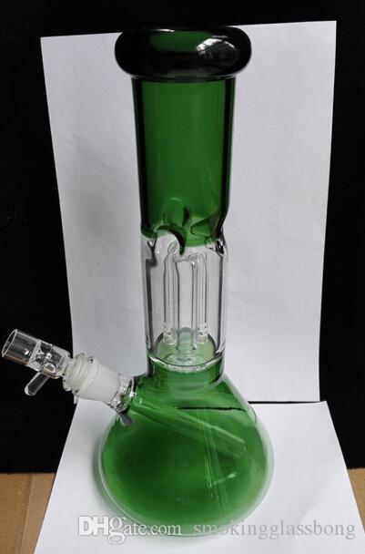 ZOB мензурка вешалка 4 руки + Downstems Perc стеклянные бонги природа зеленый две функции воды курительная трубка бонги 14.4 мм совместное чаша дешевая цена